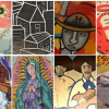 Collage of murals from the Southwest side of Chicago